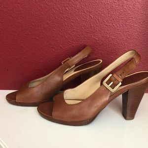 Cole Haan Nike Air Peep Toe Sling Back Heels